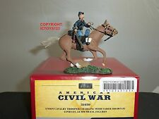 BRITAINS 31030 UNION CAVALRY TROOPER CHARGING WITH SABER DRAWN TOY SOLDIER SET
