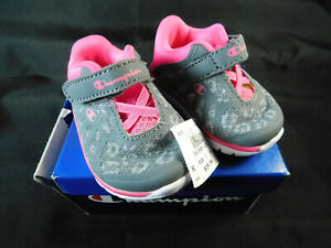 Champion WW CHP Gusto Pink Gray Toddler Sz 1W Sneakers Shoes 160688 D33 New