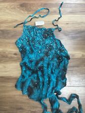 Lipsy/Asos Backless Sequin Green Tie Back Top S/M 90s/Y2K/vintage/Clubbing