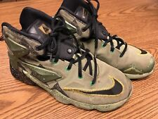 Nike 836386-309 Lebron XIII 8 Green Alligator Basketball Youth Shoes Sz 6.5Y