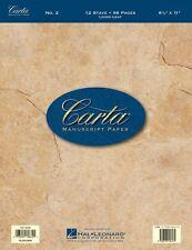 No. 2 Carta Manuscript Paper Sheet Music - Hal Leonard - NEW 000210009