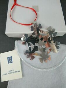 JAMES AVERY STERLING SILVER ORNAMENT IN ORIG BOX w/POUCH & PAPERWORK-ANGELS&DOVE