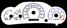 110MPH White Face Reverse Euro Glow Gauges For 00-02 Chevrolet Cavalier w/ Tach