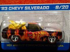 HOT WHEELS 83 1983 CHEVY SILVERADO 2014 MEXICO CONVENTION PICKUP TRUCK 9/20 BLK