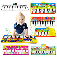 Kids Baby Piano Blanket Touch Play Game Early Education Music Piano Musical Toys