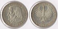 "BRD 5 DM 1964 -J- ""Fichte"" vz/ Unc. Silber Max. 495.000 Ex."