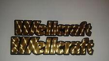 WELLCRAFT BOAT decals Marine Viny Gold Engine Turn