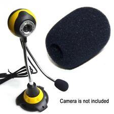Mini Micrófono Auricular micrófono de espuma de esponja de Parabrisas Negro Funda Protector x5 Reino Unido