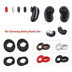 Blanco Jvchengxi 4 Pares Silicona Almohadillas de Repuesto Compatible con Samsung Galaxy Buds Live Almohadillas Auricular Cojines Auriculares Tapones para los O/ídos Suaves para Galaxy Buds Livee