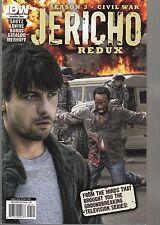 JERICHO REDUX SEASON 3 CIVIL WAR - PHOTO INCENTIVE COVER - HTF - IDW COMICS