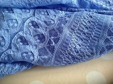New Blue stretch lace fabric designer dress Craft Sew Fashion Blue Lace Cloth