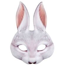 Adults Kids Easter Bugs White Rabbit Wonderland Bunny Fancy Dress Peter Eye Mask