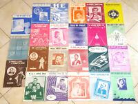 Lot of 23 Vintage 1950's Sheet Music -Jazz Pop-Antique 50s-Art Covers-#1