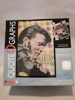 Elvis Presley Quote O Graphs 1000 Pieces Open Box Interior Sealed No Poster