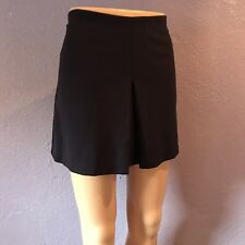 SISLEY Midnight Blue Ponte Skirt Single Pleat Made In Italy 44 10 CUTE!