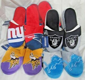 NFL Colorblock Slippers by Forever Collectibles -Select- Size AND Team Below