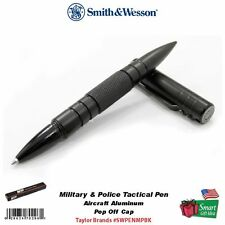 Smith & Wesson M&P Tactical Pen Black, Aircraft Alum, Military&Police #SWPENMPBK