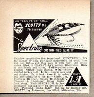 1950 Print Ad Spectrum Flies for Fly Fishing Scotty the Fisherman Milwaukee,WI