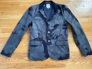 Diesel Gray Camo Blazer Jacket Mens M Mint!