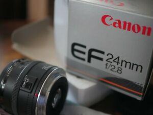 Canon EF 24mm f/2.8 EF Lens with box Hoya