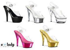 Pleaser Kiss-208 Shoes Platform Sandals Stiletto High Heels Strappy Pole Dancing