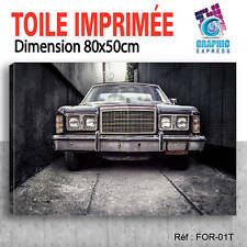 80x50cm - TOILE IMPRIMÉE TABLEAU DECO - VOITURE FORD CAR - FOR-01