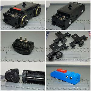 Lego Eisenbahn Zubehör Ersatzteile Train Zug Motor Räder 4.5V 9V zur Auswahl