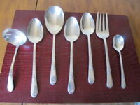 IS ADORATION Set of 7 Serving Pieces Wm Rogers Silverplate Flatware Lot D