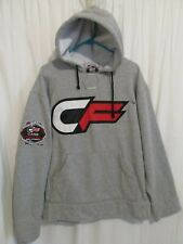 CF Cage Fighter MMA Authentic Embroiderd Grey Hoodie Sweatshirt Sz XL