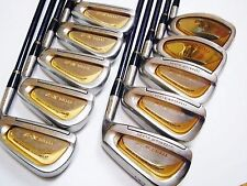 Perfect 10pc Beautiful Gold MARUMAN Titus X-2 R-flex IRONS SET Golf Clubs 6227