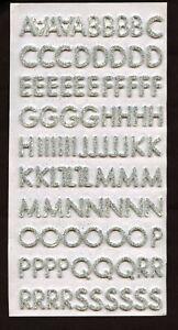 190+ Self Adhesive Silver Glitter Foam Letter Alphabet Number Stickers