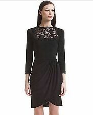 Belle Badgley Mischka Black Ruched Lace Dress 4