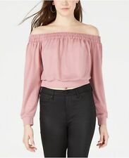 Material Girl Off-The-Shoulder Cropped Sweatshirt Rose Size L