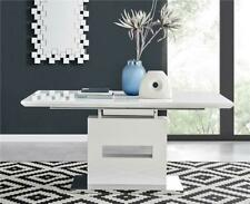 Arezzo White High Gloss Extending Dining Table and 6 8 Contemporary Chairs Set