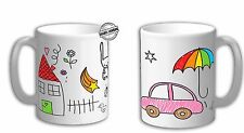 Personalised Own drawing mug, Childrens art mug, Print your own art on the mug.