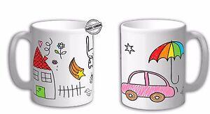 Personalised Own drawing mug, Childrens art mug, Print your own art on the mug.