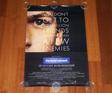 ORIGINAL MOVIE POSTER THE SOCIAL NETWORK 2010 UNFOLDED DUTCH DS ONE SHEET