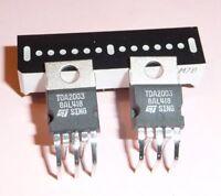2x org. STM TDA 2003 liegend Verstärker Audio IC Industrieware DIY Aktivbox usw