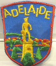 Vintage Adelaide Founder woven Cloth Badge.
