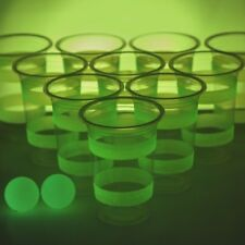 Glow in the Dark Beer Pong brillante gioco alcolico Festa Divertente INCS 22 TAZZE 2 palline