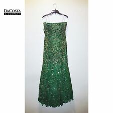 TIFFANY DESIGNS Green and Gold Sequin Gown, Size 14