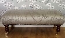 A Footstool / Stool In Laura Ashley Weeping Willow Fabric