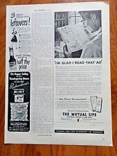 1945 The Mutual Life Insurance Ad Social Security Quiz