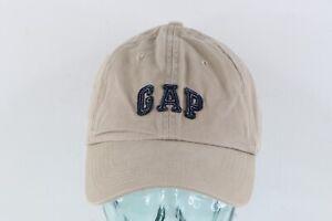 Vintage GAP Streetwear Stitched Spell Out Adjustable Cotton Dad Hat Cap Beige