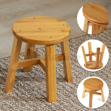 Bamboo Wooden Shower Seat Bench Stool Bathroom Spa Bath Sauna Chair Organizer US