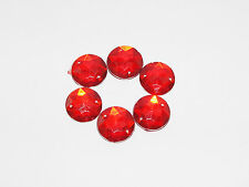 Strass scarpbooking 15mm à coudre★LOT DE 5 -Rouge rond ★Neuf