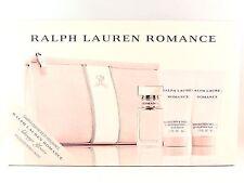 RALPH LAUREN ROMANCE 15ml .5oz MINI + 50ml 1.7oz MOISTURIZER SHOWER GEL GIFT SET