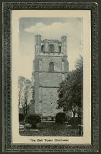 Sussex. Chichester. The Bell Tower - Vintage Redman Embossed Printed Postcard