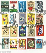 Scrapbooking Crafts Vtg Match Box Labels Graphics Digital Download 130+ Images