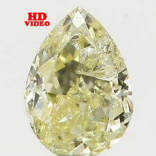 0.09 Ct Natural Loose Diamond Pear Shape Yellow Color 3.32X2.40X1.50MM SI2 N5434